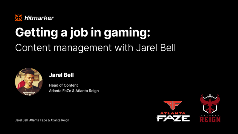 Getting a job in gaming: Content management with Atlanta FaZe and Atlanta Reign's Jarel Bell
